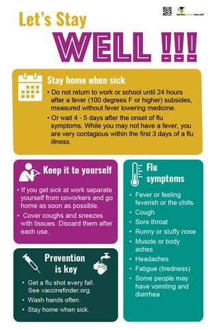 Stay Home When Sick Office Sick Etiquette Poster 12 X 18 Laminated Poster Health Poster How To Memorize Things Sick Health