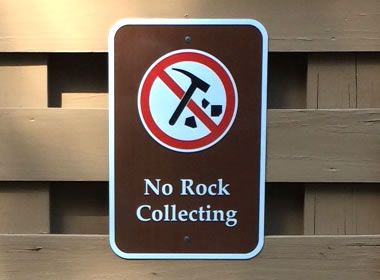 No Rock Collecting Sign Rock Collection Rock Fossil