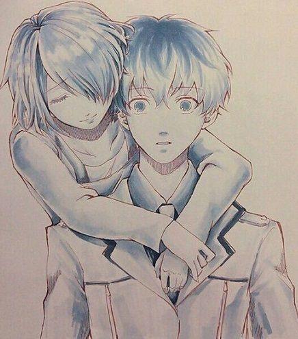 Imagenes De Anime De Amor Para Dibujar A Lapiz Dibujos Ghoul