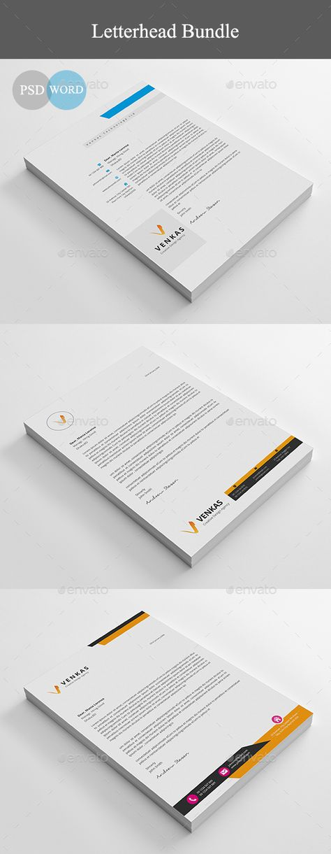 Letterhead Stationery, Letterhead design and Words - letterhead samples word