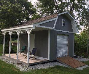 Bauen Sie Eine Ordentliche Werkstatt Mit Diesen 12x16 Stallplanen Mit Veranda Smallstorage 12x16 Bauen Diesen Eine M In 2020 Shed With Porch Diy Shed Plans