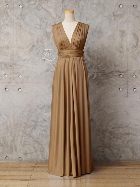Golden Brown Convertible Dress Floor Length 805 Brown Bridesmaid Dresses Brown Wedding Dress Bridesmaid Dresses Long Chiffon