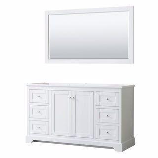 Avery 60 Inch Single Vanity No Top No Sink 58 Inch Mirror White Wyndham Colle In 2020 Bathroom Vanities Without Tops White Vanity Bathroom Single Bathroom Vanity