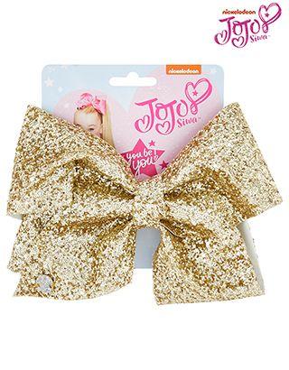 Jojo Bow Gold Glitter Bow Hair Clip