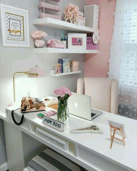 P I N T E R E S T Leyaah Pink Home Offices Chic Office Decor Home Office Space
