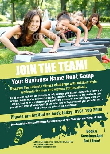 Boot Camp Flyer Template Inspirational Boot Camp Bootcamp Fitness Flyer Workout Posters