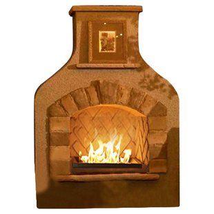 Sunjoy Matheson Steel Propane Outdoor Fireplace Wayfair