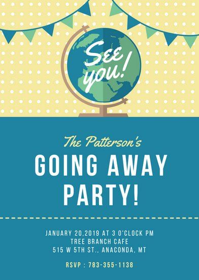 24 Going Away Party Flyer Template In 2020 Party Invite Template Going Away Party Invitations Farewell Party Invitations