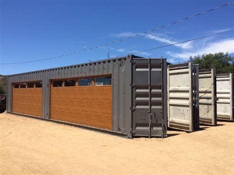 Shipping Container Garage Door Container House Plans Shed House