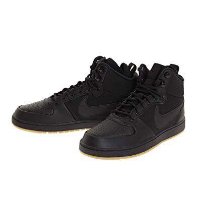 Nike Men S Ebernon Mid Winter Black Sneakers Aq8754 001 Nike Men Black Sneakers Winter Shoes