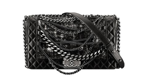 0379682836b4 Hottest bags for Fall 2013! Chanel Padded leather and tweed Boy bag with  chains.