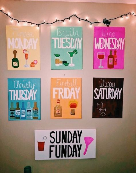 Apartment decorating college bedroom creative canvases 53 Ideas for 2019 - Modern College House, College Room, College Apartments, College Dorm Canvas, Ucf Dorm, Cute Canvas Paintings, College Canvas Paintings, Dorm Paintings, Sorority Canvas Paintings