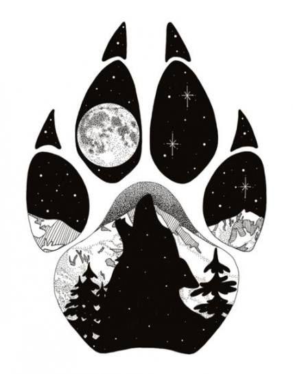 49 Ideas Drawing Wolf Howling Tattoo Ideas Wolf Paw Print Cool Art Drawings Wolf Artwork