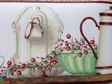 Country Kitchen Wallpaper Border | Primitive Country Kitchen Wallpaper  Border With Coffee Pots, Bread Box
