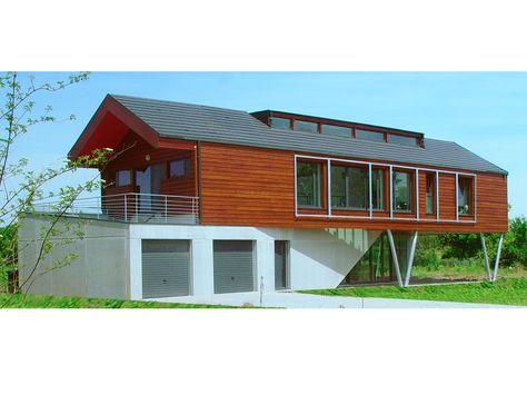 Moderne Contemporaine 12 Plan Maison Piloti Ossature Bois et Crepi