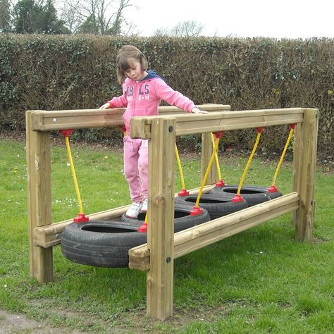 garten spielplatz 30 Modern Backyard Playground Ideas For Kids Diy Outdoor Toys, Outdoor Toys For Kids, Outdoor Play Areas, Backyard For Kids, Backyard Games, Diy For Kids, Outdoor Fun, Outdoor Projects, Diy Garden Ideas For Kids