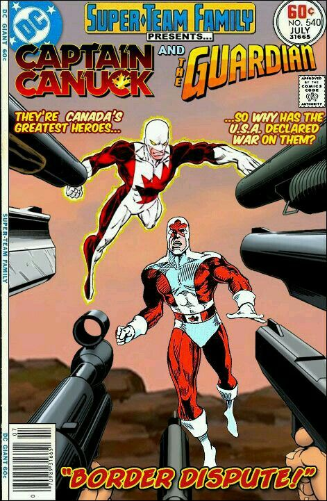 Super-Team Family: The Lost Issues!: Captain Canuck and Guardian | Comic  book heroes, Marvel and dc crossover, Retro comic book