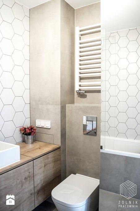 Znalezione Obrazy Dla Zapytania Plytki Heksagonalne Biale Basement Bathroom Design Basement Bathroom Remodeling Laundry In Bathroom