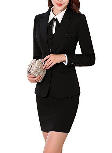 80658dd6587334 SK Studio Femmes Costume Manteau Jupe De Bureau Travail Blazer ...