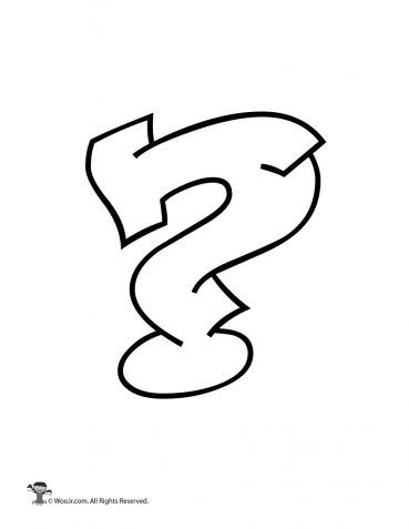 Question Mark Coloring Page