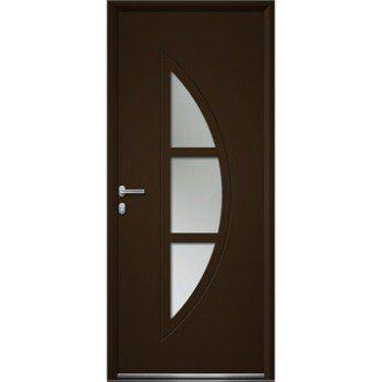 Porte D Entree Sur Mesure En Aluminium Omaha Artens Leroy Merlin Porte D Entree Portes Entree