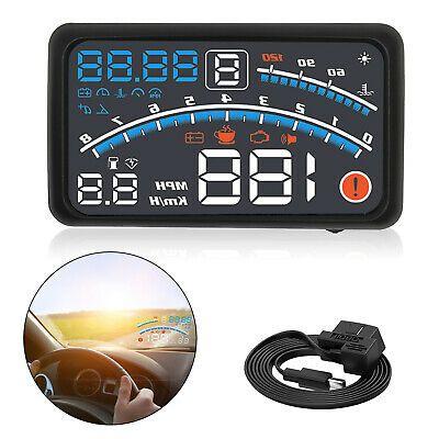 "5.5/"" Car HUD Head-Up Display OBD2 Dashboard Speedometer Projector Speed Warning"