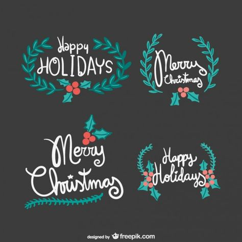Christmas Lettering.Vintage Merry Christmas Lettering Free Vector Free Vectors