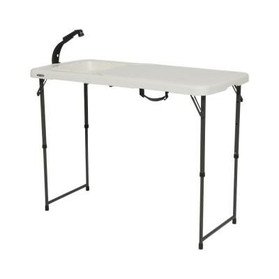 Lifetime 6 Ft Fold In Half Table Almond 80454 The Home Depot Fold In Half Table Lifetime Tables Folding Table