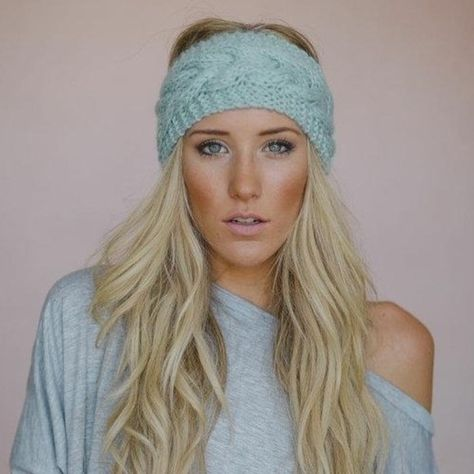 Knitting Patterns Headband Look what I found on Mint Cable-Knit Headband by Three Bird Nest
