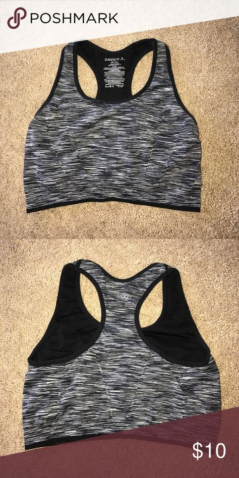Sports bra Black white and grey mix sports bra Tops Crop Tops