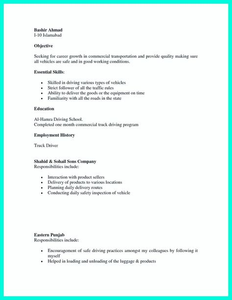 cool Simple but Serious Mistake in Making CDL Driver Resume - cdl resume