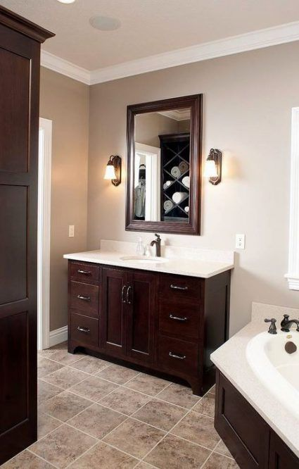 64 Trendy Bath Room Dark Brown Cabinets Paint Colors Bathroom Cabinet Colors Bathroom Wall Colors Dark Cabinets Bathroom
