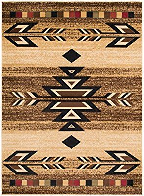 Amazon Com Rustic Lodge Southwestern 8x10 Area Rug 7 10 X9 10