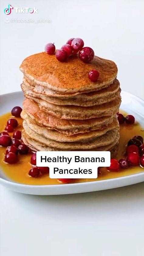 4-ingredient Healthy Banana Pancakes