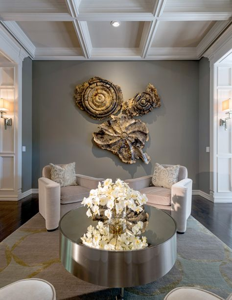 Burl Wood Wall Sculptures Hang In The Living Room. Photo By Nathan Harmon.  | Interiors | Pinterest | Tree Trunks, Wall Sculptures And Wood Walls Part 8