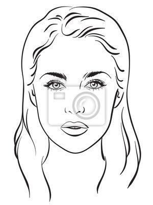 Bildergebnis Fur Gesicht Vorlage Nase Kleiner Schminken Schone Nase Gesichtsschablone