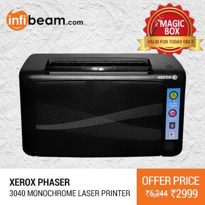 Xerox Phaser 3040 Monochrome Laser Printer At Lowest Rate From