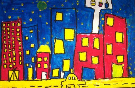 Primary Color Cityscape 1st Grade