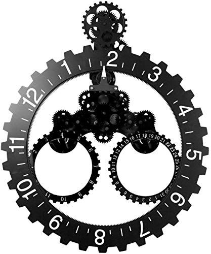New Nclon Diy Gear Wall Clock Metal Parts Material 3d Moving Gear Wall Clock Artwork Living Room Restaurant Office Black 6855cm Online Togreatshop In 2020 Gear Wall Clock Metal Wall Clock Large