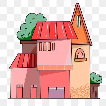 บ านแดงบ านการ ต น บ าน อาคาร ส แดงภาพ Png และ Psd สำหร บดาวน โหลดฟร โปสการ ด อาคาร ภาพประกอบ