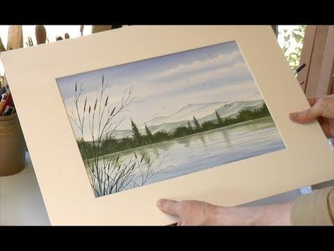 A 30 Minute Watercolour Painting A Mountainside Lake Youtube