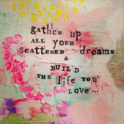 Gather and Build Original Mixed media painting by Catina Jane Gray // via Joyful Roots blog