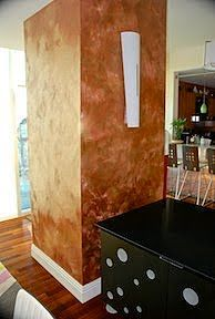 Wall Painted With Metallic Paint Collection Copper Projects
