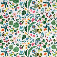 Milles Fleur fabric, a take on Josef Frank's 'Tulip' pattern of the 1940s.