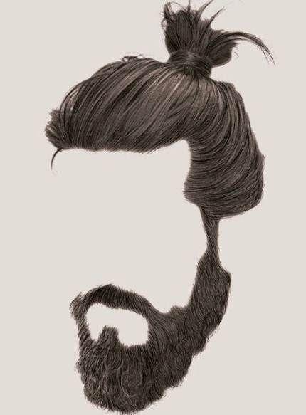 Hairstyles Men Fashion Man Bun 49 Ideas Hair And Beard Styles Braided Beard Beard Drawing