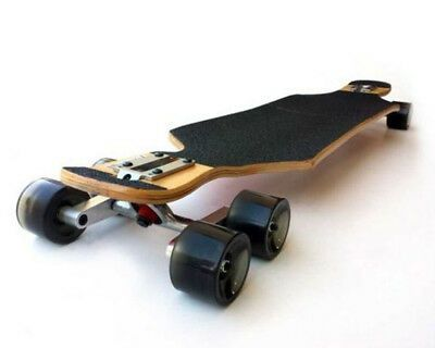 Silber Metall Tandemachse Rad-Kit Achsen Skateboard-Cruiser Longboard Truck Set
