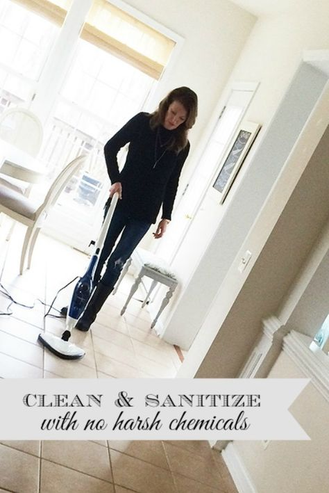 How to clean and sanitize your home during flu season without chemicals.