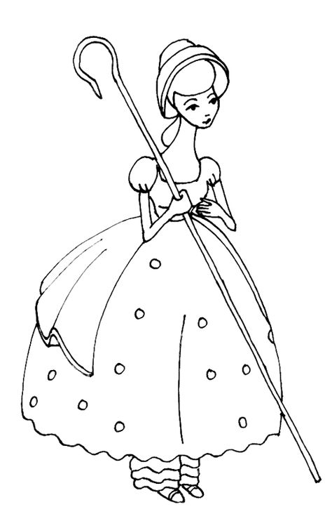 Bo Peep Toy Story Coloring Pages Dibujos Campesinos