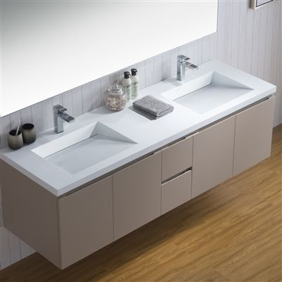 72d Vanity Adams 72 Inch Infinity Style Counter With Two Sinks