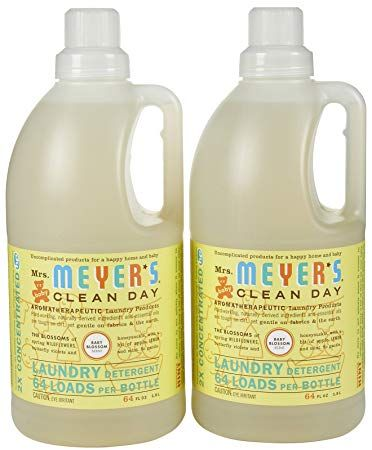 Mrs Meyer S Clean Day Laundry Detergent Baby Blossom 64 Oz 2 Pk Review Cleaning Day Laundry Detergent Baby Laundry Detergent